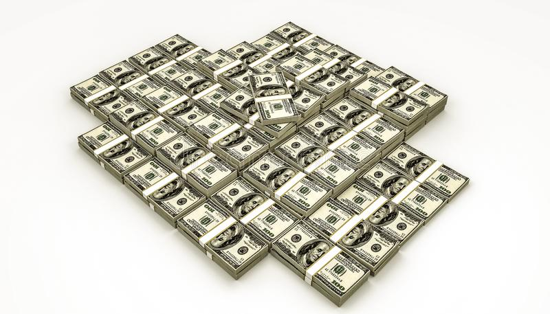 Pile énorme du dollar illustration libre de droits