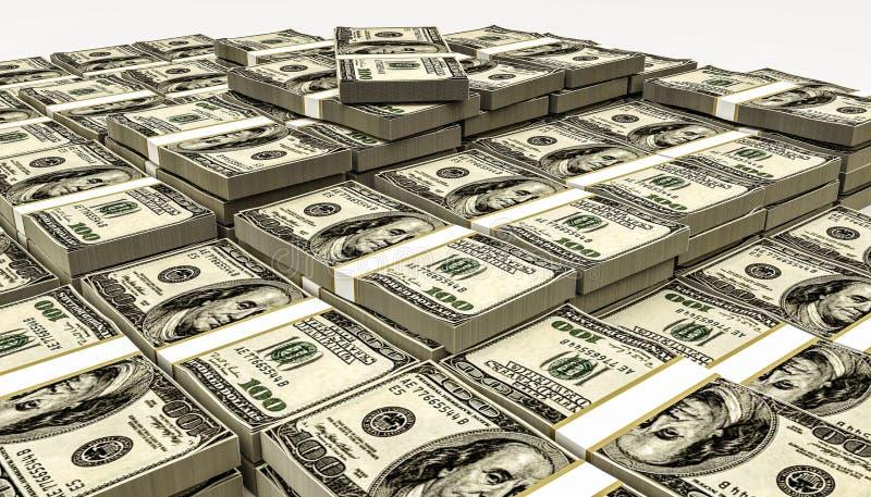 Pile énorme du dollar illustration stock