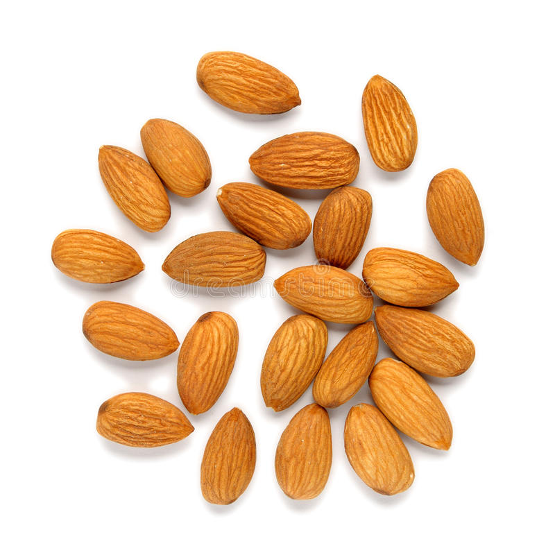 Pile Of Almonds Stock Photography