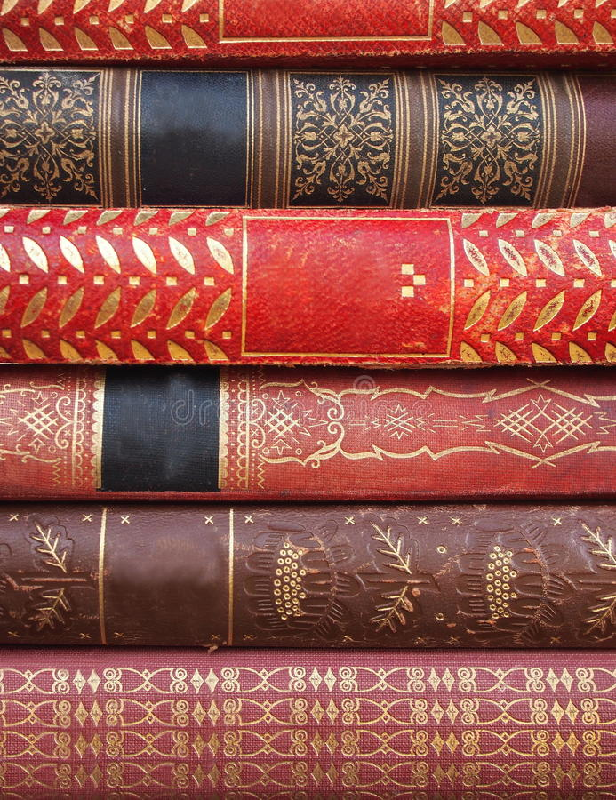 Pile of antique books royalty free stock images