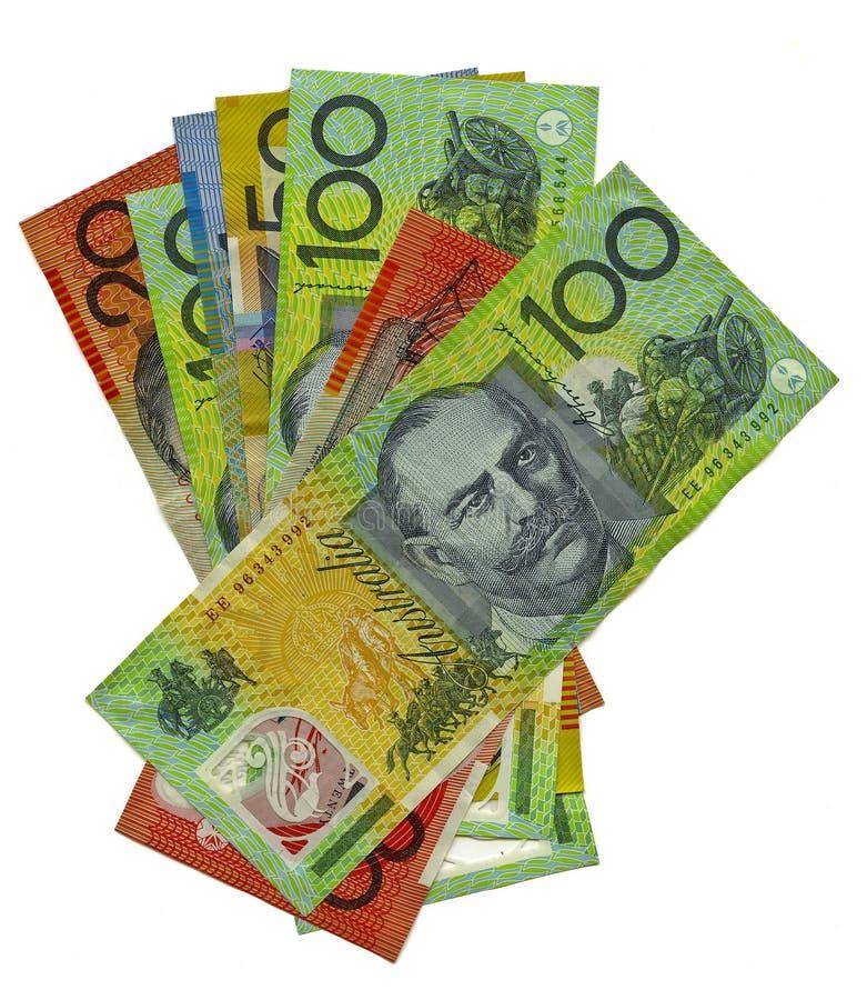 Pile of Australian banknotes royalty free stock photos