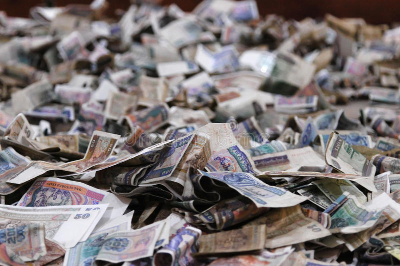 Pile of banknotes stock photos