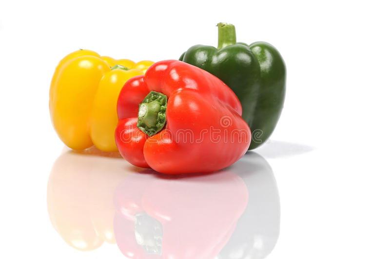 Pile of bell peppers royalty free stock photos