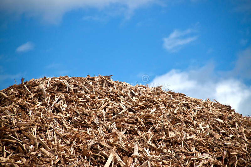 Pile of biomass royalty free stock image