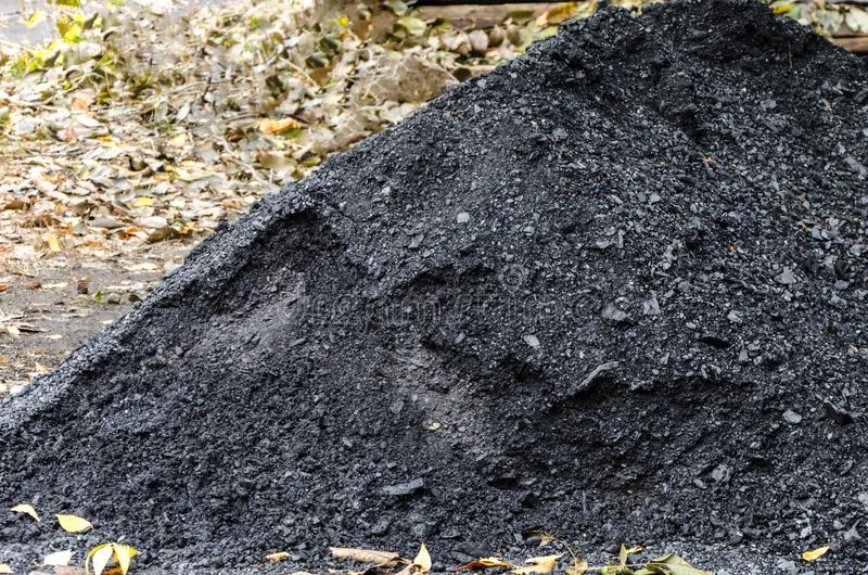 A pile of black coal stock image