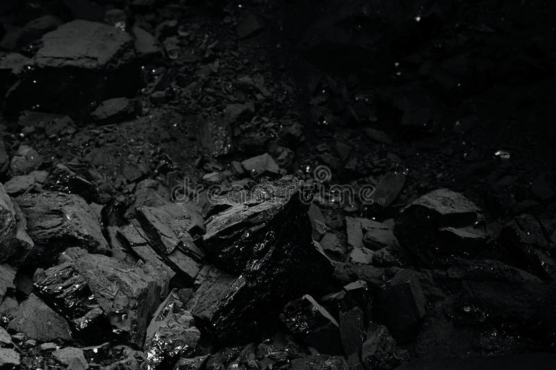 Pile of black coal for texture royalty free stock photography