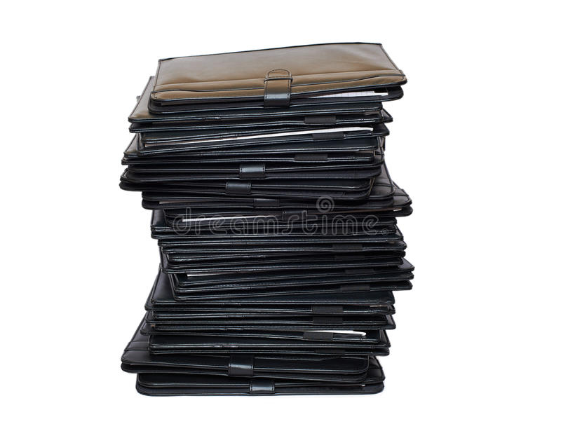 Download Pile of black folders stock photo. Image of order, information - 24253686