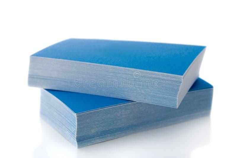 pile bleue de cartes de visite professionnelle de visite image stock