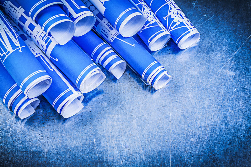 Pile of blue blueprints on metallic background construction conc download pile of blue blueprints on metallic background construction conc stock image image of roll malvernweather Image collections