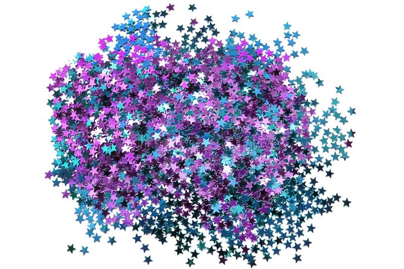 Star shaped glitter royalty free stock images