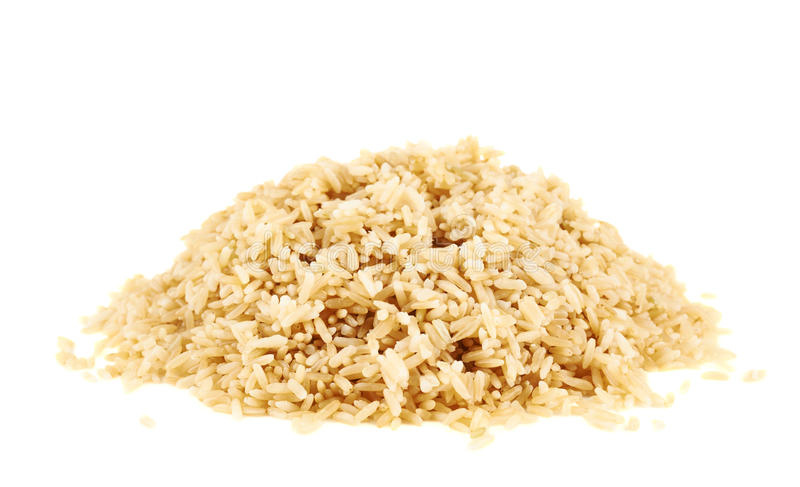 Pile of boiled brown rice royalty free stock photo