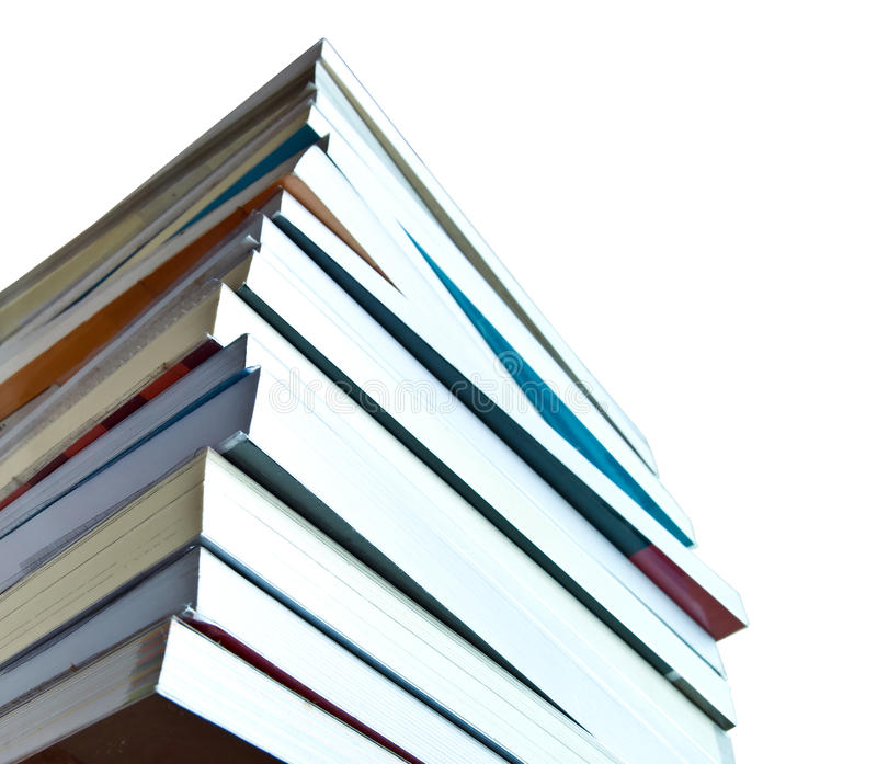 Pile of book. Isolated on white background royalty free stock image