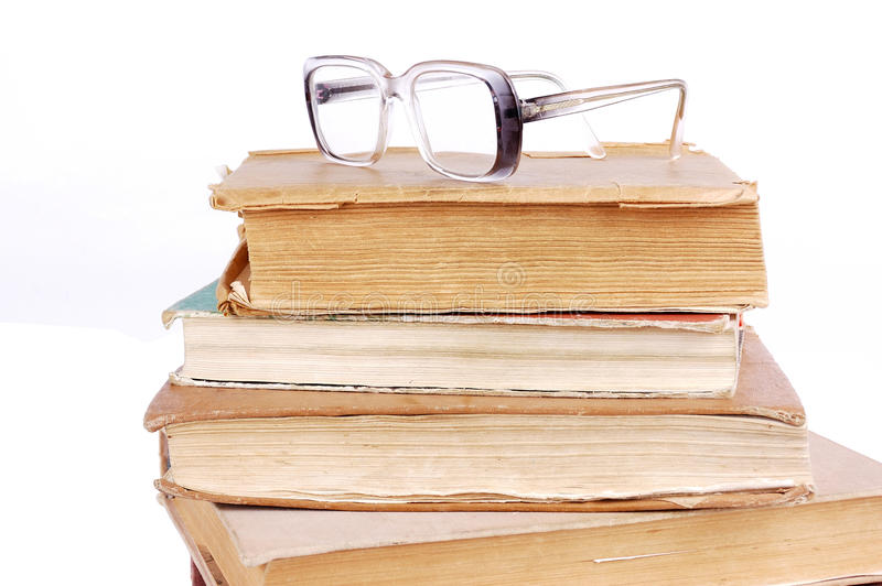 Download Pile of books stock photo. Image of green, glasses, text - 18103138