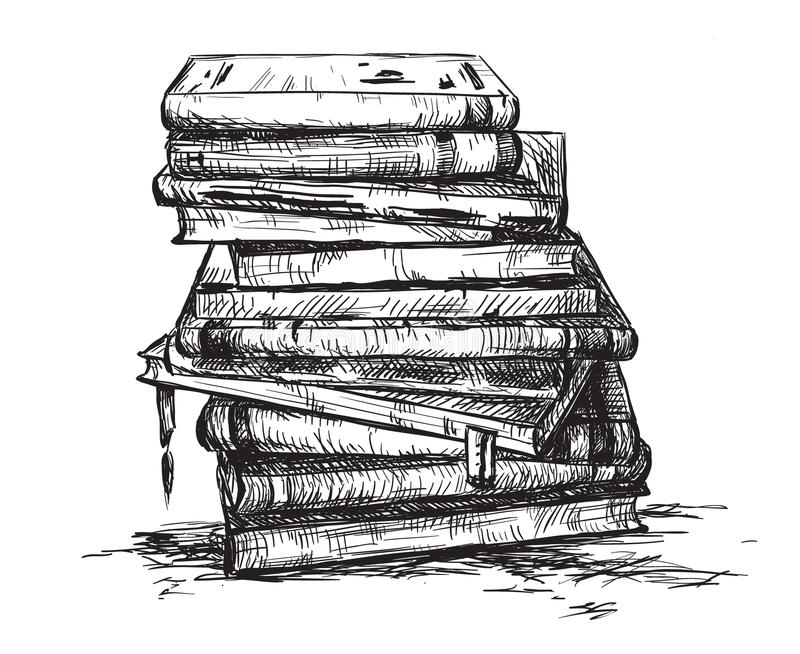 A pile of books stock illustration