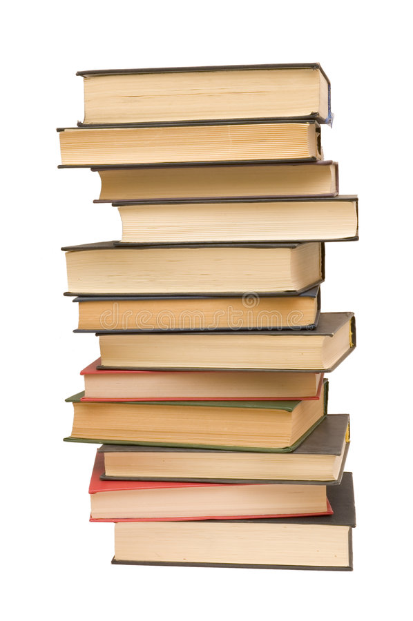 Stack of books outline