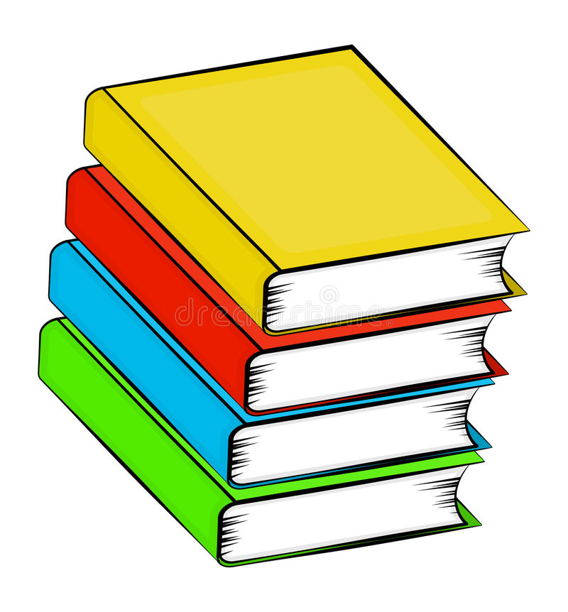 A pile of books cartoon vector symbol icon design. Beautiful ill royalty free illustration