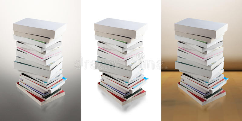 Pile of books (clipping path) stock photo