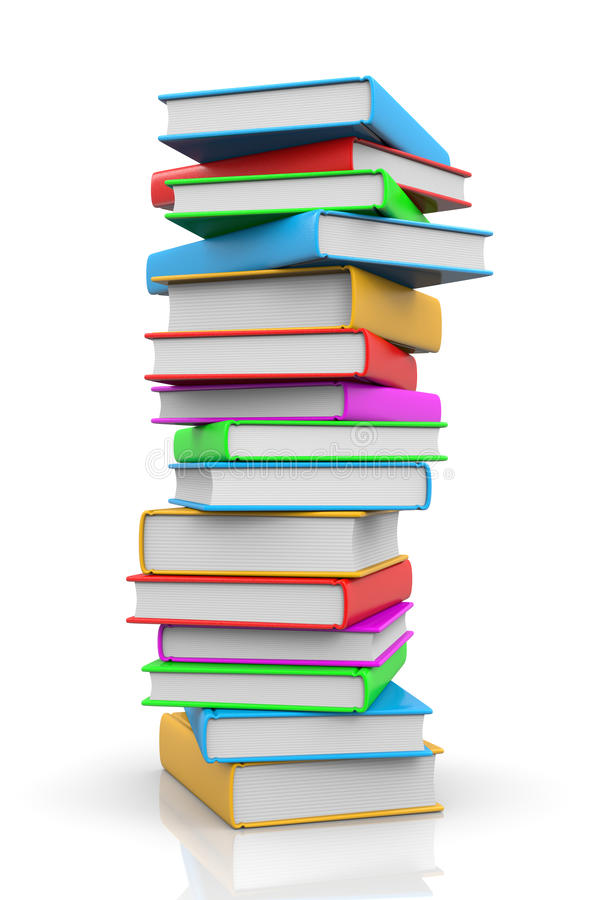 Pile of Books stock illustration