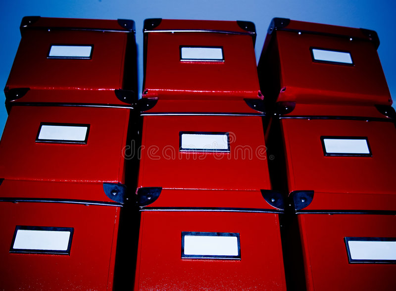 Pile of Boxes. A Pile of stacked red boxes royalty free stock image