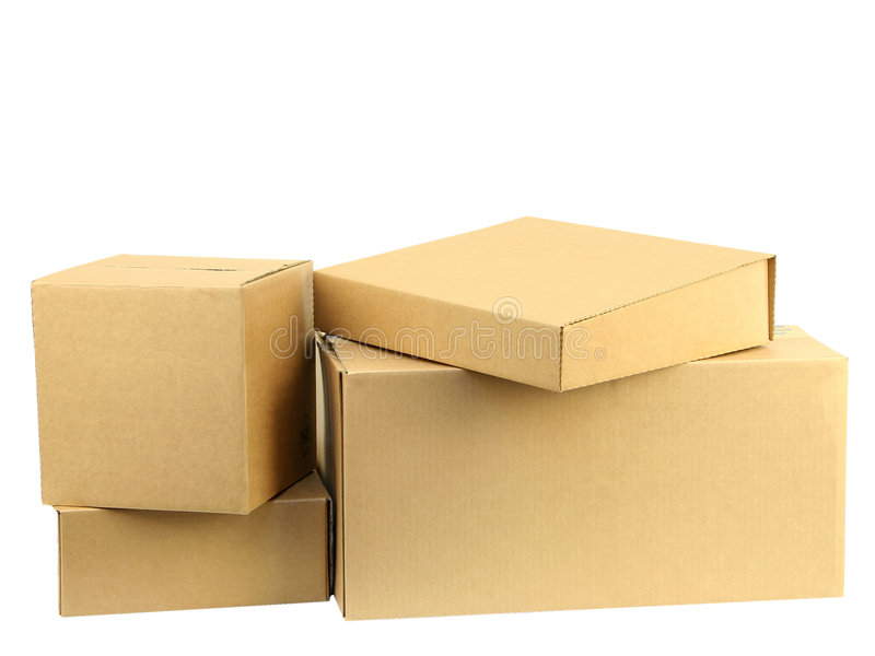 Pile of boxes I stock images