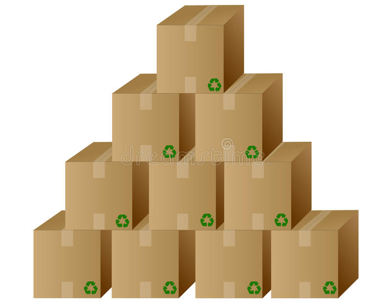 Pile of boxes / Vector stock illustration