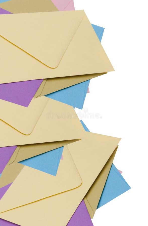Pile of Bright Envelopes stock image