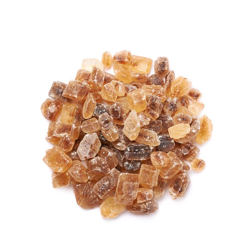 Pile of brown rock sugar crystals royalty free stock image