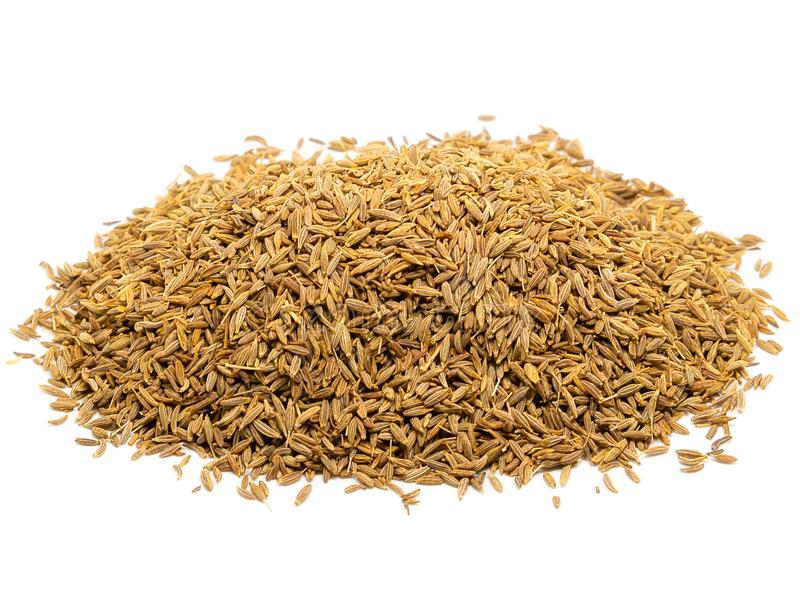 Pile of Caraway Seeds. Pile of Caraway Seeds Isolated on White Background stock image