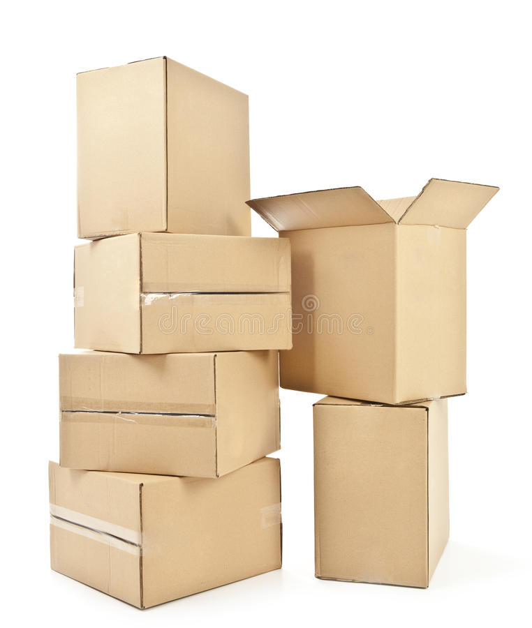 Pile of cardboard box royalty free stock photos image