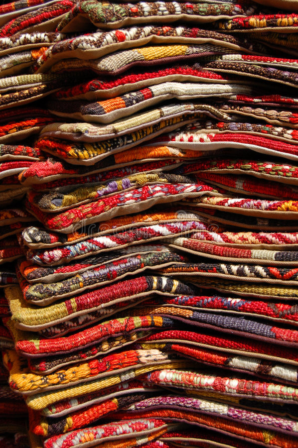 Pile Of Carpets Royalty Free Stock Images