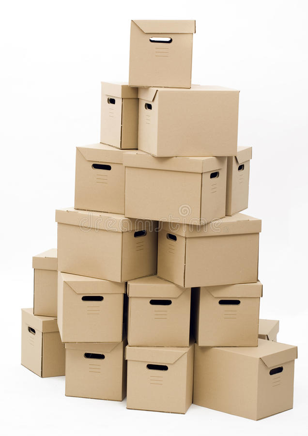 Pile of carton boxes stock photo image packer