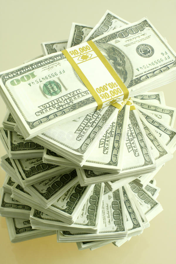 Pile of cash royalty free stock image