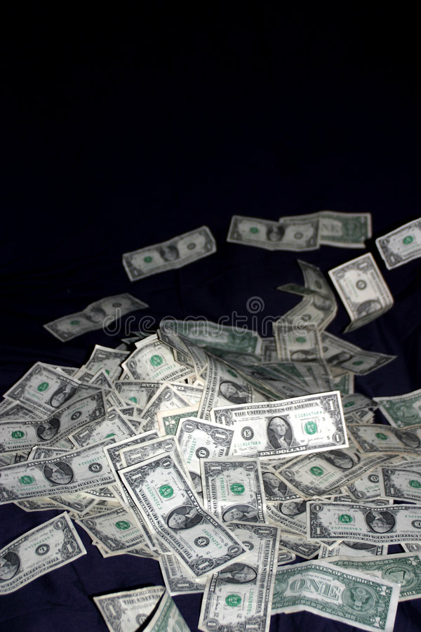 Pile of Cash Money Bills royalty free stock images