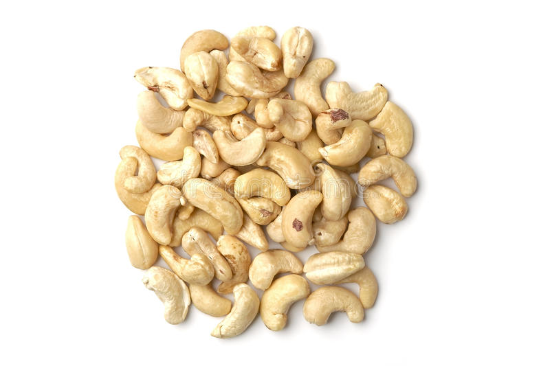 Pile of cashews royalty free stock photography