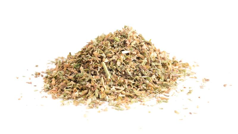 Pile of Catnip on a White Background. A Pile of Catnip on a White Background stock image