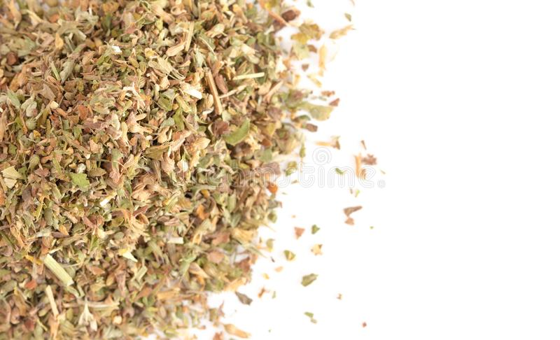 Pile of Catnip on a White Background. A Pile of Catnip on a White Background stock photos
