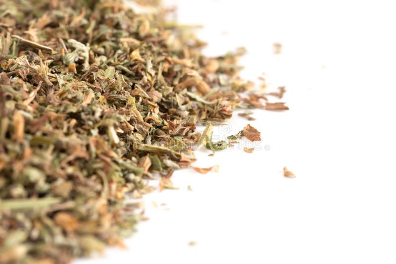 Pile of Catnip on a White Background. A Pile of Catnip on a White Background stock images