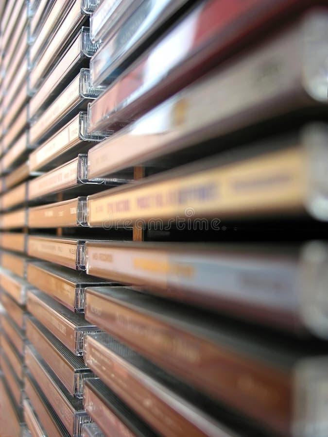 Pile cd de musique photographie stock libre de droits