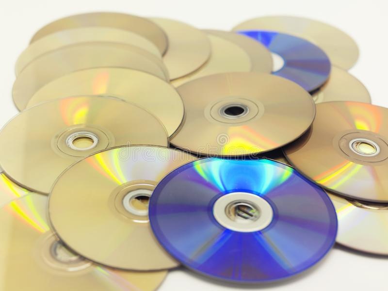 A pile of cds stock photography