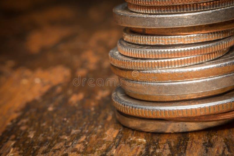Pile Change Macro stock photography