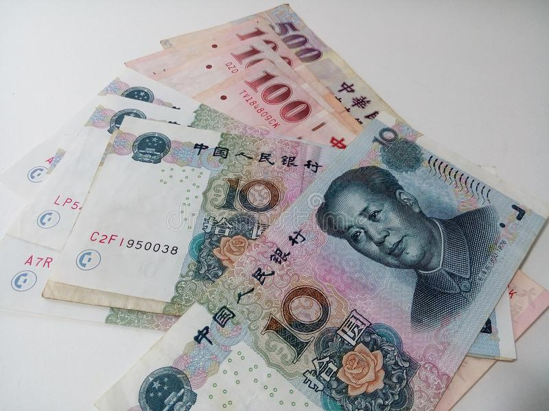 Pile of Chinese Taipei money royalty free stock image