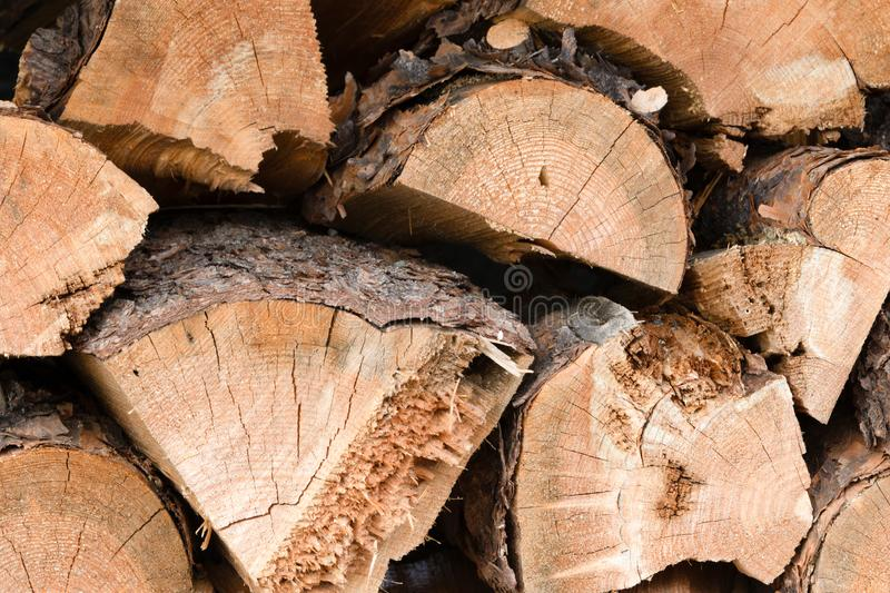 Pile of Chopped Firewood stock photo