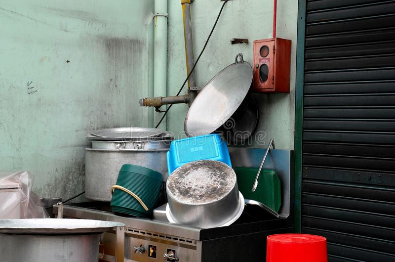 Download Clean Pots And Pans On Outdoor Sink Stock Image - Image of clean, equipment: 30051531