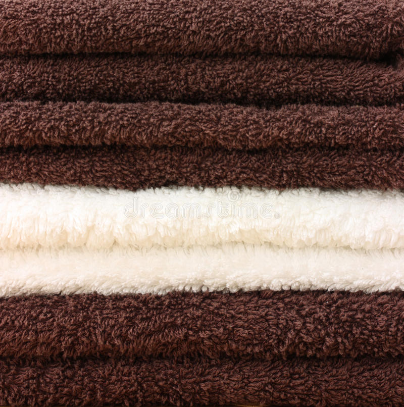 Download Pile of clean towels stock photo. Image of material, cotton - 12705696