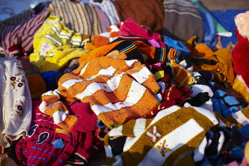 Download Pile Of Clothes On The Flea Market Stock Image - Image: 18052905