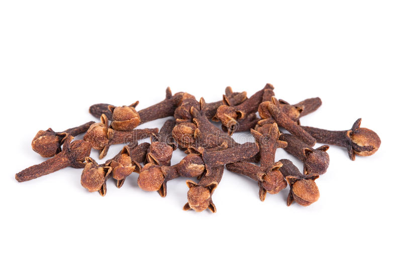 Pile Clove on white background. royalty free stock photography
