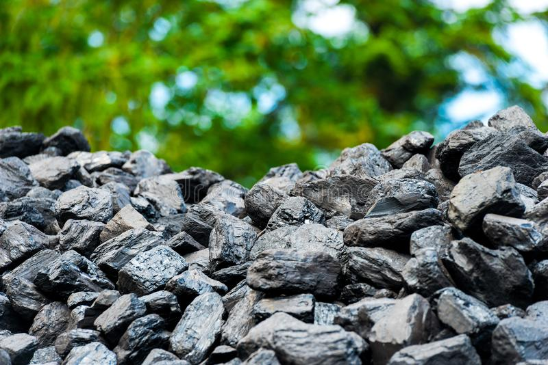 Pile of coal - natural black royalty free stock images