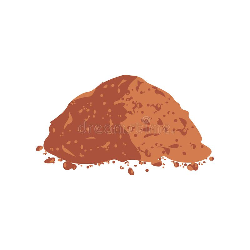 Pile Cocoa Powder vector illustration