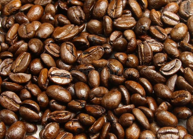 A pile of coffee beans royalty free stock images
