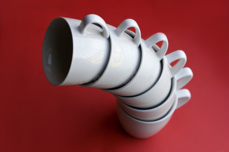 A pile of coffee cups royalty free stock image